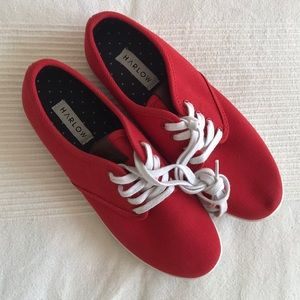 Harlow Red Sneakers Size 8